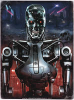 T-800 Terminator Endo Skeleton by Lovell-Art