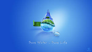 save water save life by grfixds