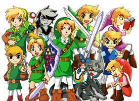 The Legends of Zelda by Messengerrobo