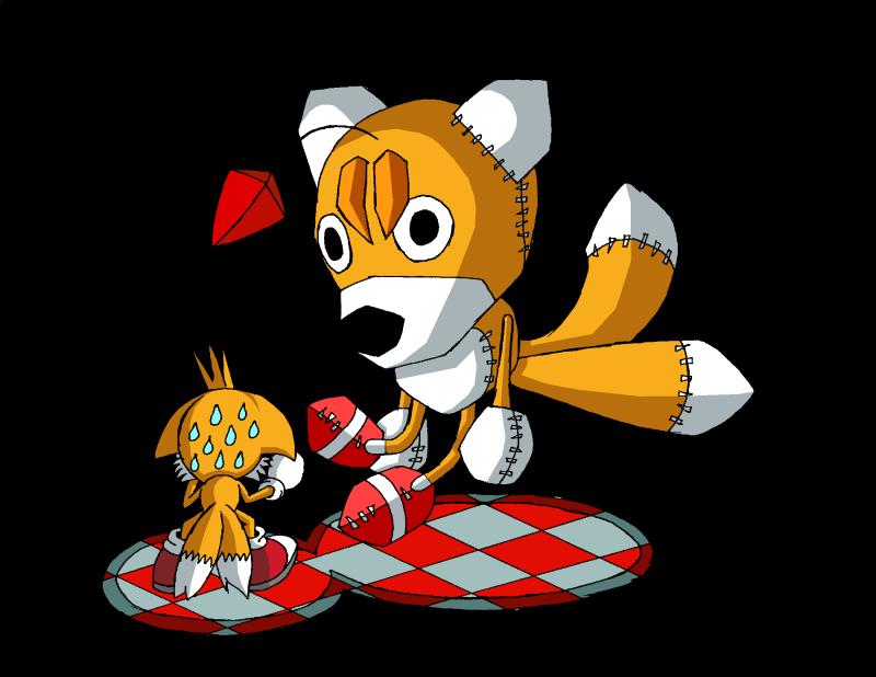 Clichés de Tails Doll Tails_vs__Tails_doll_by_Messengerrobo