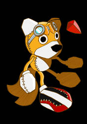 Sonic Riders style Tails doll by Messengerrobo