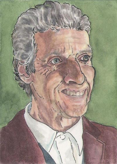 Peter Capaldi sketchcard by changewinds