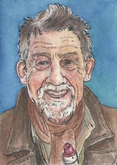 John Hurt sketchcard by changewinds