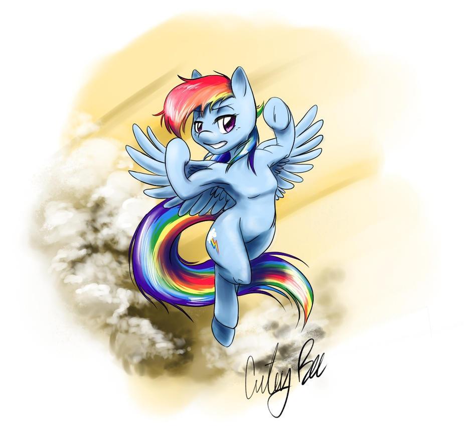 Rainbowdash by CuteyBee