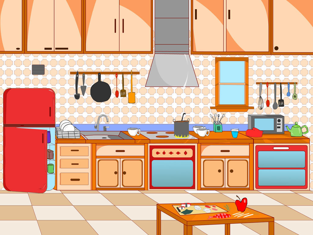 Change Color Of Kitchen Cabinets Kitchen Scene For Children App By Ankushnayak On Deviantart