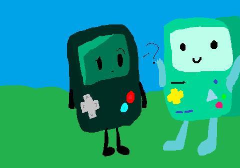 Gamey meet Beemo! by LunarStarship