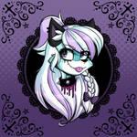 Minty the Pastel Goth Fox