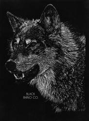 Final Design - Wolf - Black Rhino Co. T-Shirt by JackSephton