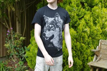 Male Model - Black Rhino Co. T-Shirt Design - Wolf by JackSephton