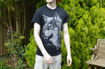 Male Model - Black Rhino Co. T-Shirt Design - Wolf