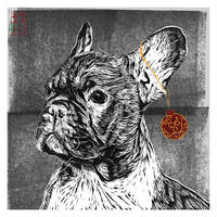 French Bulldog Christmas Card  [Design 4] by JackSephton
