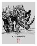 Rhino - Black Rhino Co. T-shirt Design