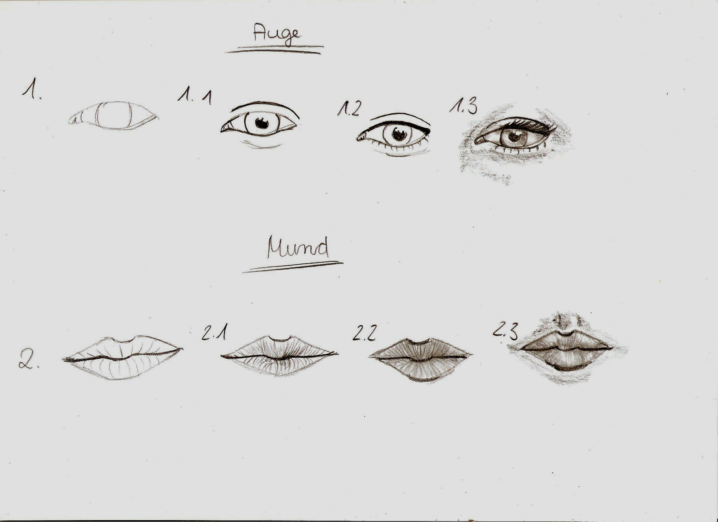 How To Draw Eyes And Mouth By Vitadog