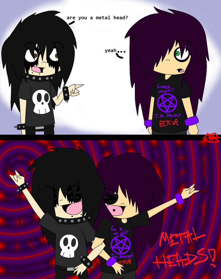 Metal Heads by Scissors-Love on DeviantArt