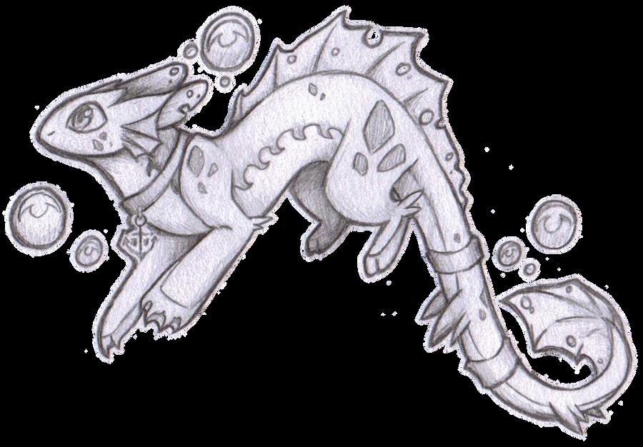 Water Dragon Sketch By Nekozdemon On Deviantart