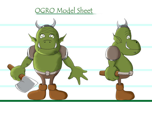Ogre Model Sheet by ChessArt