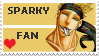 Sparky Fan Stamp by R-Blackout