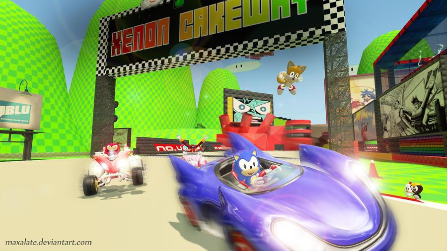 Sonic Racing by maxalate