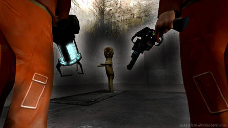 SCP Containment Breach - SCP-173, D-Class. by maxalate