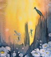 Fairies on a forest floor by JettieHier
