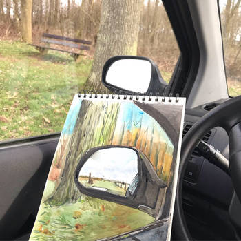 Drawn from the car by JettieHier