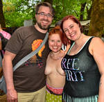 Topless Lady at the 2015 OCF 174