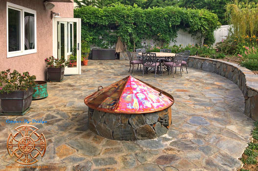 Kittell's Fire Pit Copper Cover 1