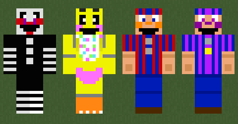 Custom FNAF Minecraft Skins 5 by TerranTitanium on DeviantArt
