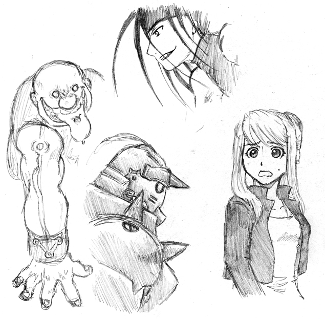 FMA sketches by Yuri-hime