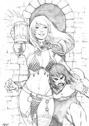 Red Sonja and Conan by Beuwullf