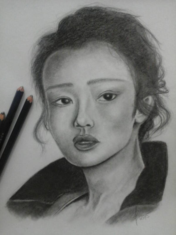 Gong Li by anniemaeart