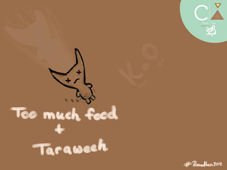 Teddy says: Too much food + Taraweeh = K.O