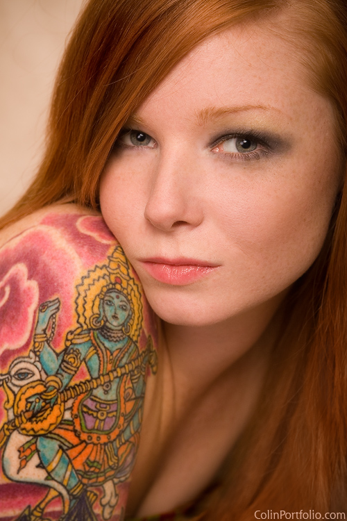 girl with tattoo