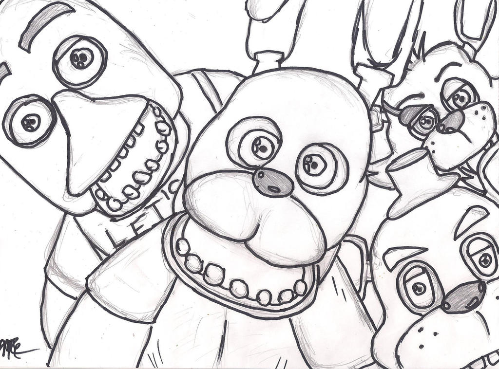 Five nights at freddy's cast wip by midnightestrella on deviantart five nights at freddy's 2 puppet coloring pages Freddy's Old Bonnie Nights at Five Night Fury Coloring Pages