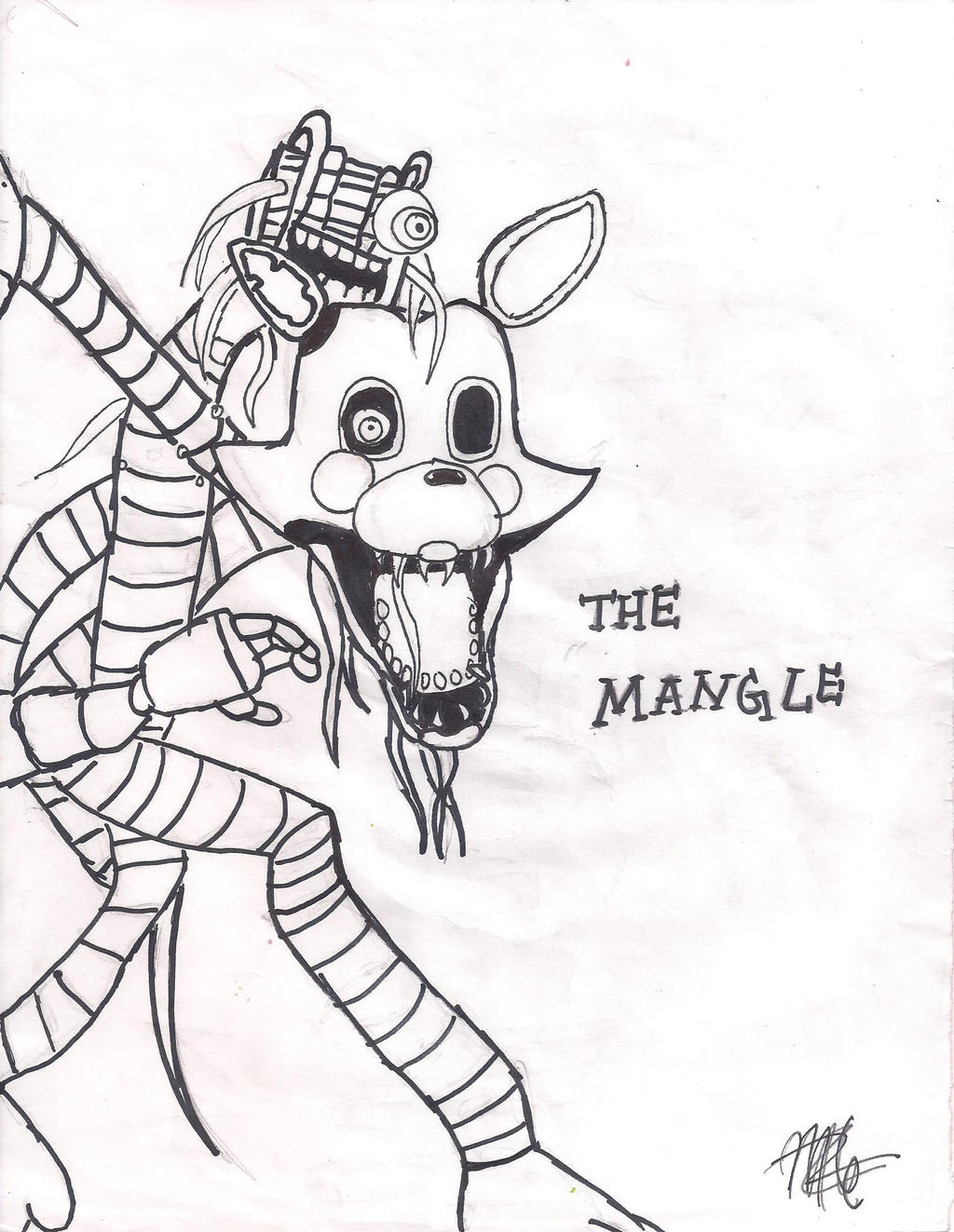 how to draw fnaf mangle