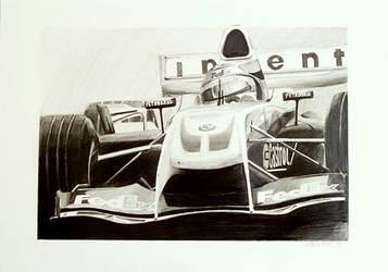 F1 pencil drawing