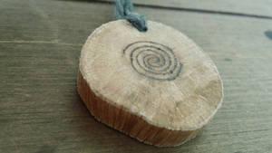 Celtic Spiral Oak Pendant