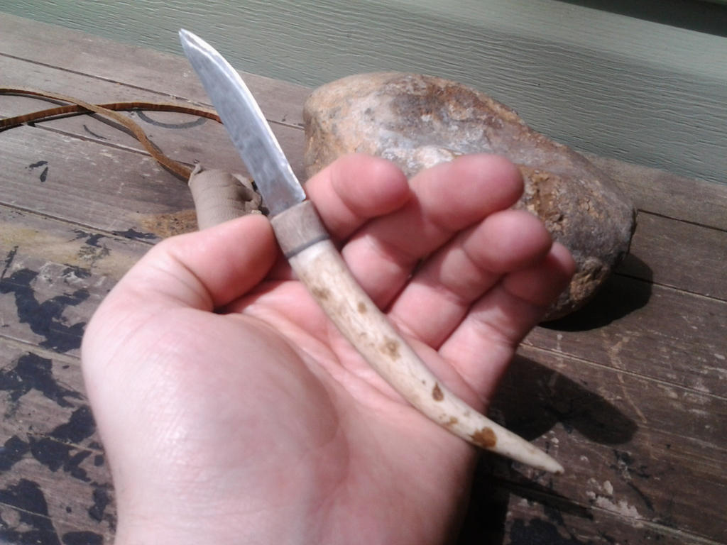 Antler Tine Neck Knife by Troll-Blood