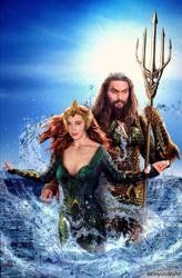 Mera and Aquman by BeyondityArt