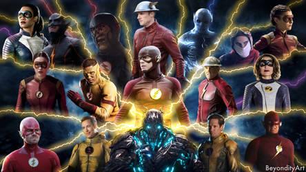The flash speedsters wallpaper by BeyondityArt