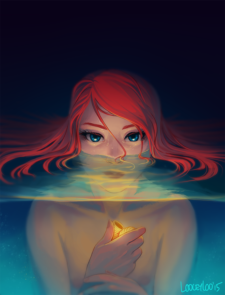 Girl in the Water by looceyloo