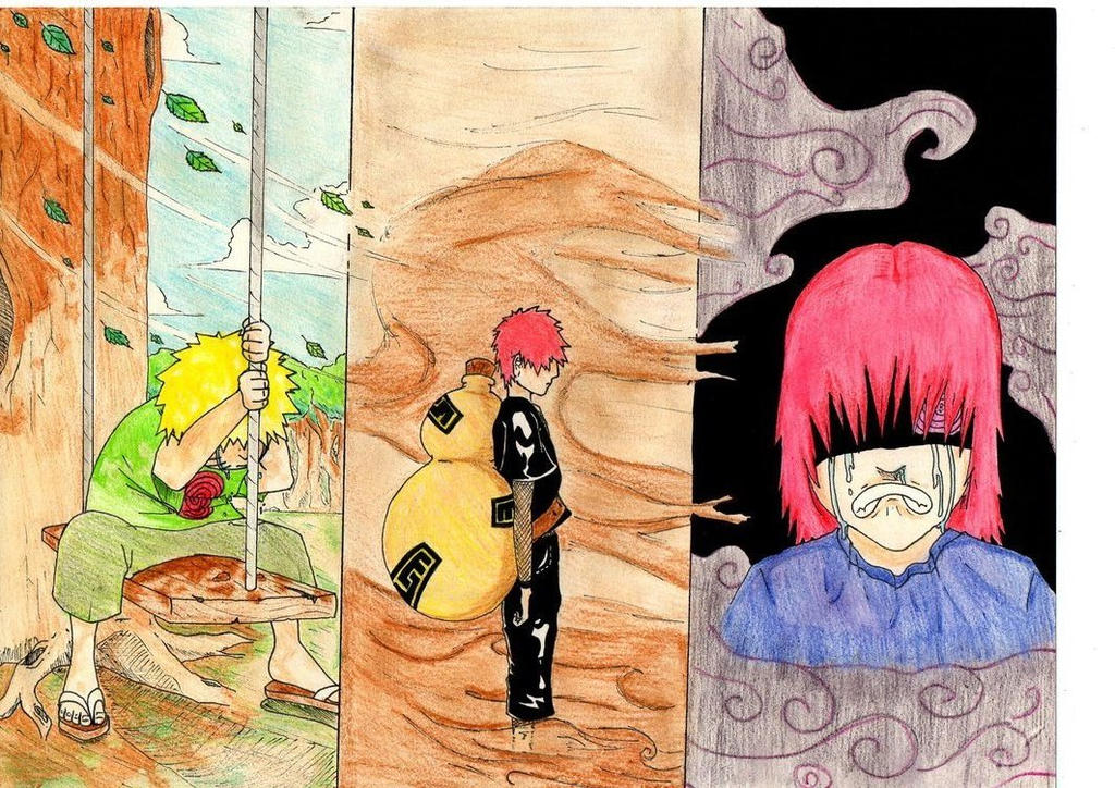 (Old draw) Naruto, Gaara and Nagato Kids by Ichiginryu on ... Gaara And Naruto Kids