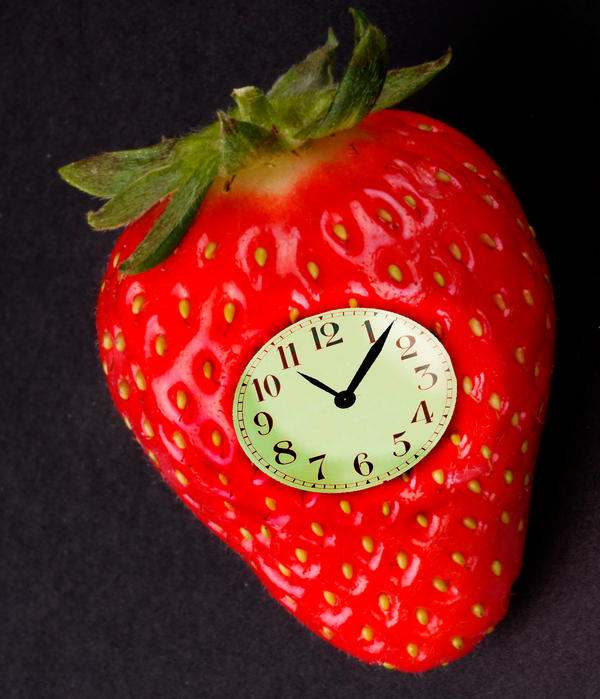 Strawberry Clock Fan Art by hamishwood