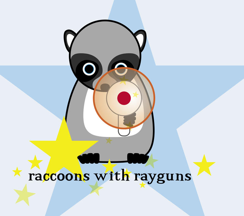 raccoons with rayguns by serealis