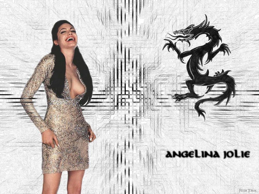 Angelina Jolie Dragon by Lord-Iluvatar