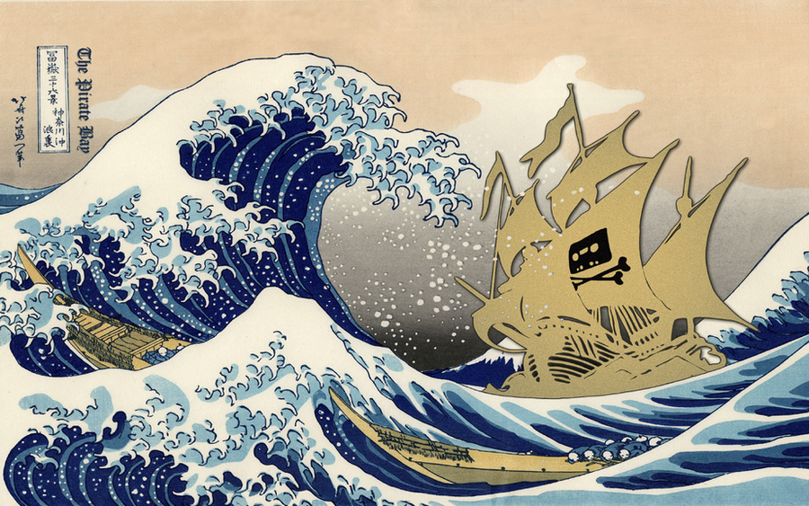 The Pirate Bay - The Great Wave off Kanagawa by Lord-Iluvatar