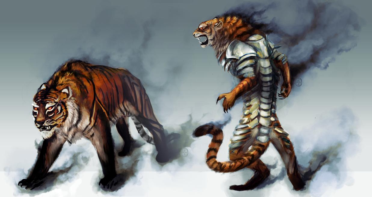 Werewolf vs weretiger - photo#5