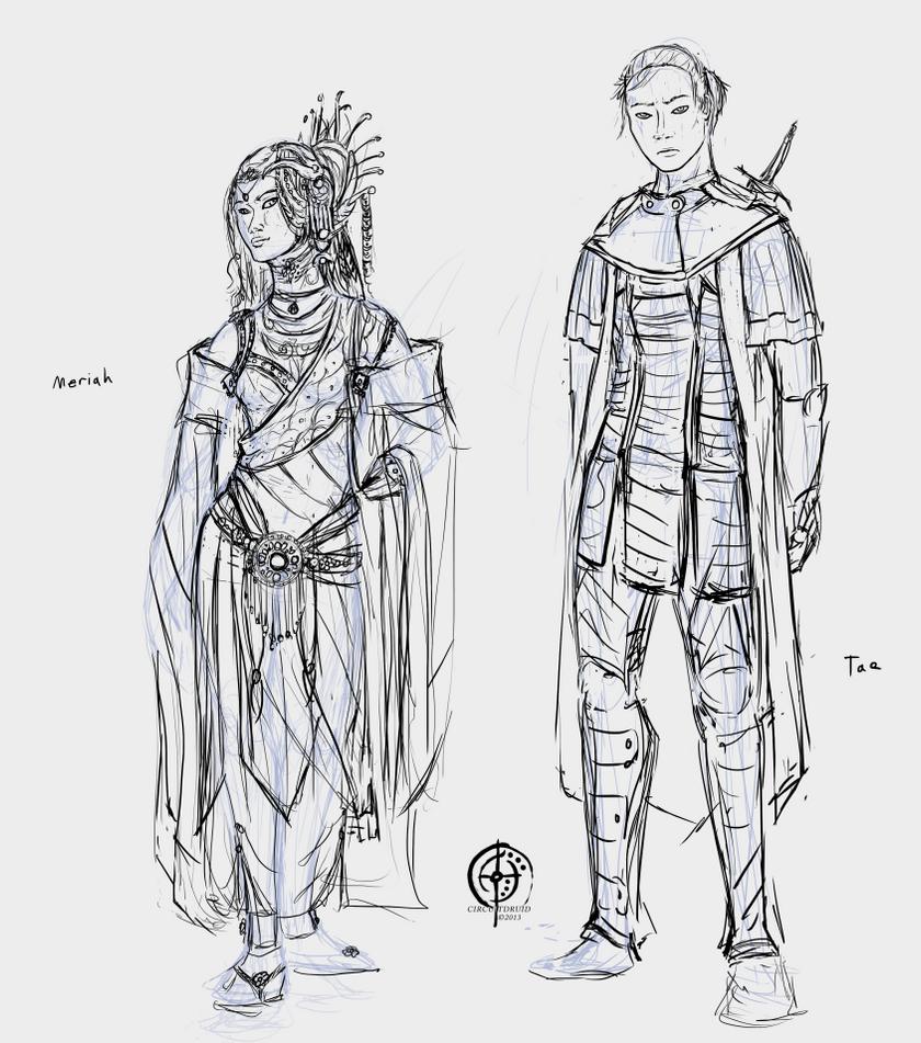 meriah and tae sketch by circuitdruid on deviantart