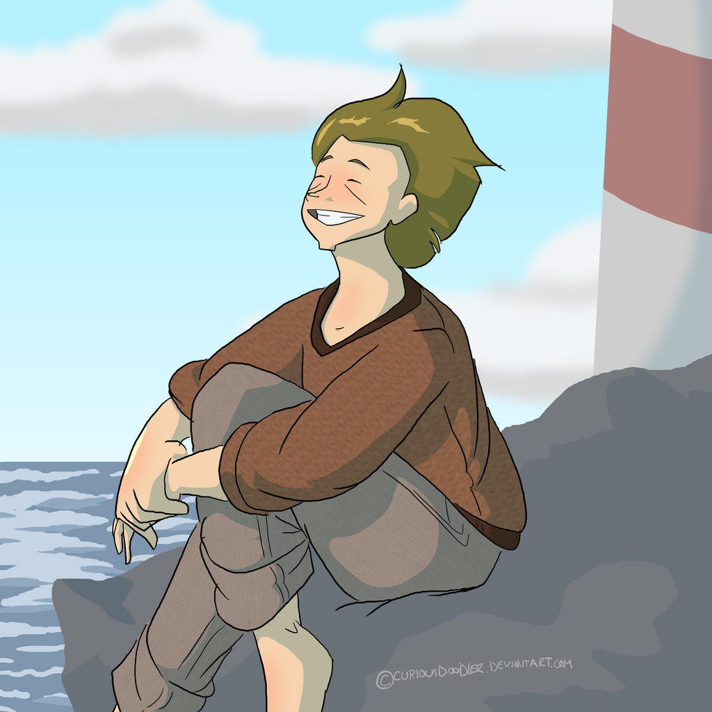 Lily at the Sea by curiousdoodler
