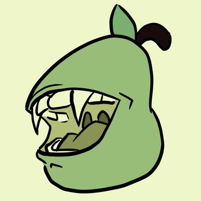 Tiny Pear Big Bite by curiousdoodler